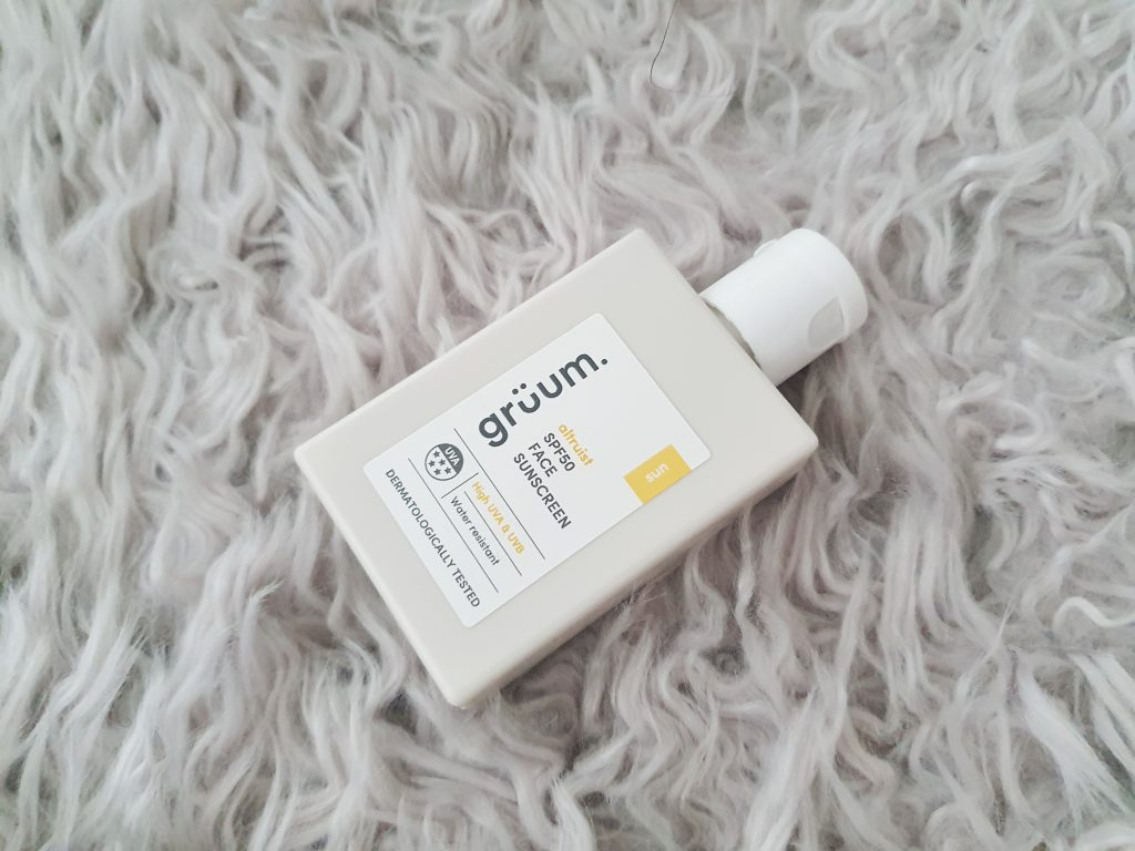 Grüum Altruist SPF50 Face Sunscreen Review